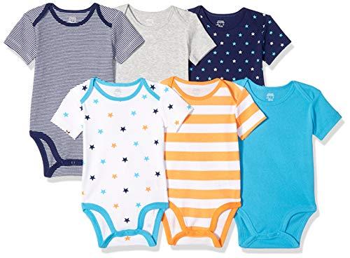 Amazon Essentials – 6 x Body de manga corta para bebé
