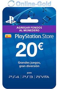Tarjeta prepago PlayStation 20 euros por 16,35€