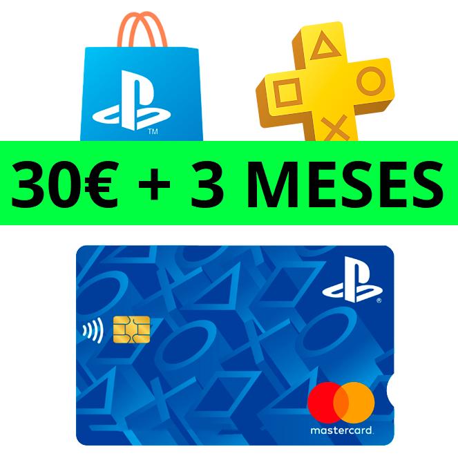30€ PSN + 3 MESES PSN Plus GRATIS con la Tarjeta Playstation gratuita