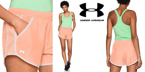 Under Armour Fly by Short, pantalones cortos para mujer.