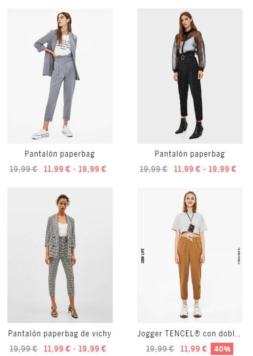 Hasta -40% en pantalones para mujer de Bershka