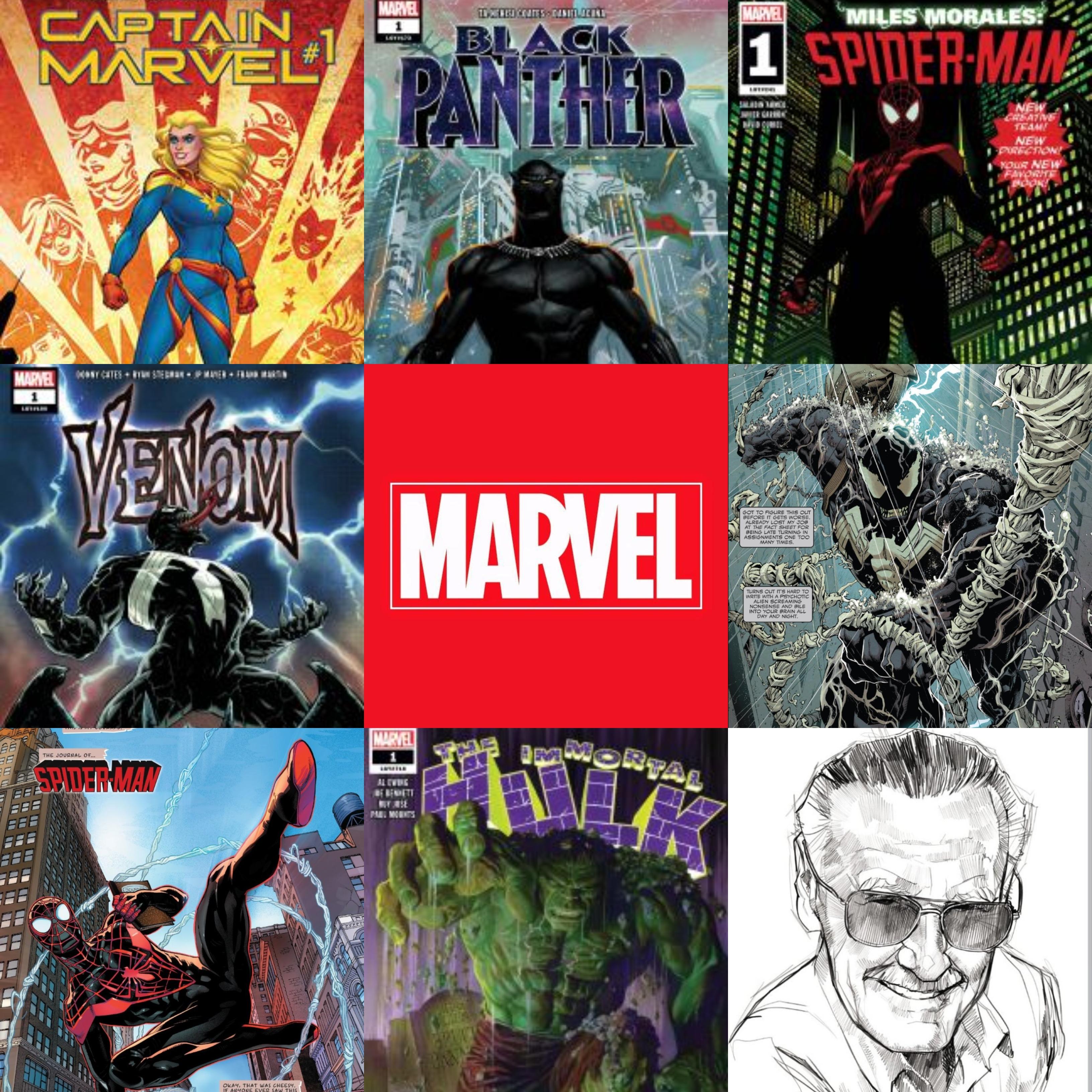 Gratis 5 cómics: Venom, Black Panther, Immortal Hulk, Spider-Man y Captain Marvel (Marvell)