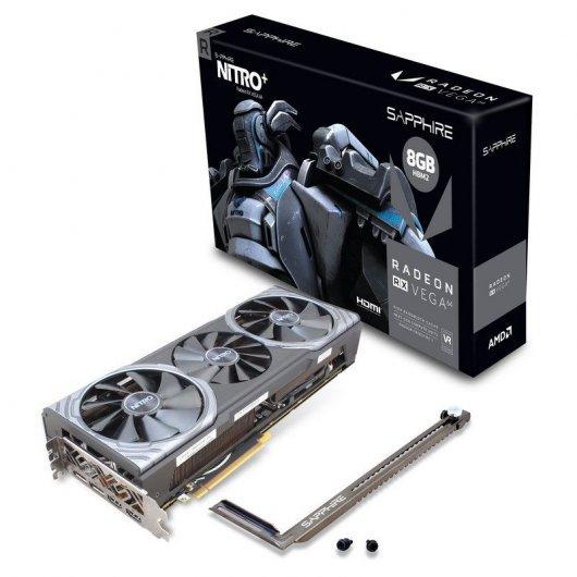 SAPPHIRE  AMD RX Vega, 64 Nitro+ Dual HDMI, 8 GB), Color Negro