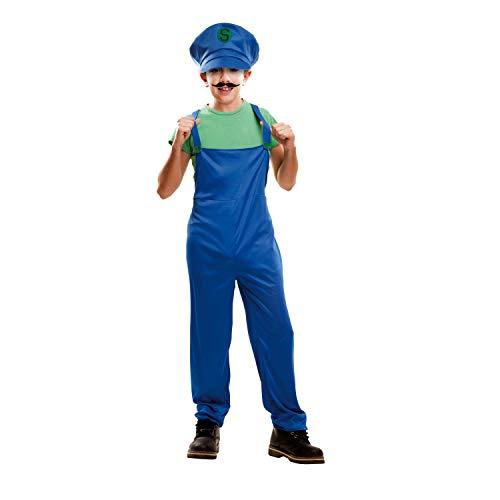 Disfraz de luigi para niños de 5-6 años (Producto Plus)