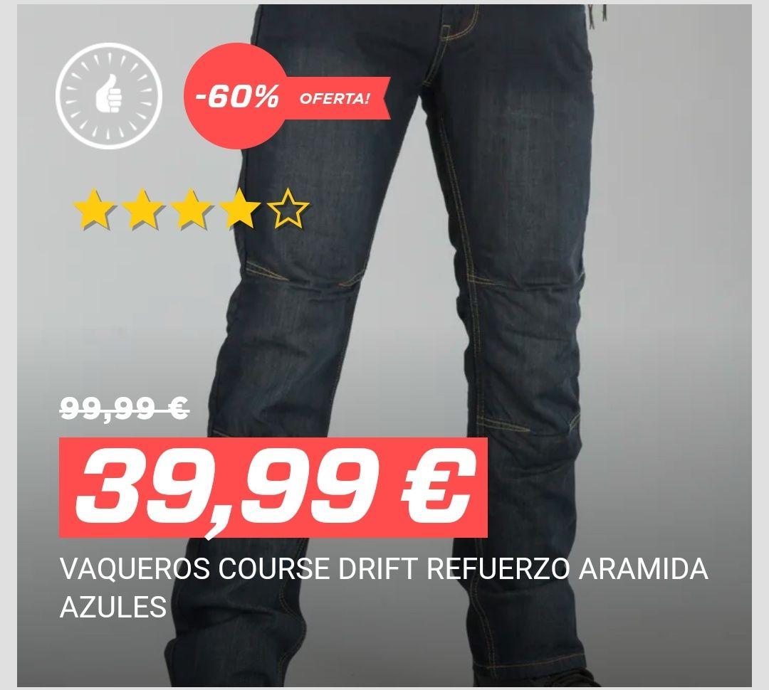 Vaqueros course drift refuerzo aramida azules +10% de descuento