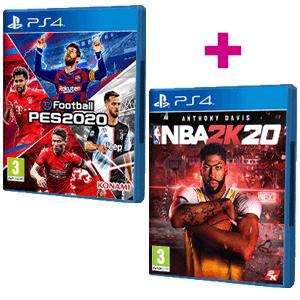 NBA 2K20 +  PES 2020 PS4