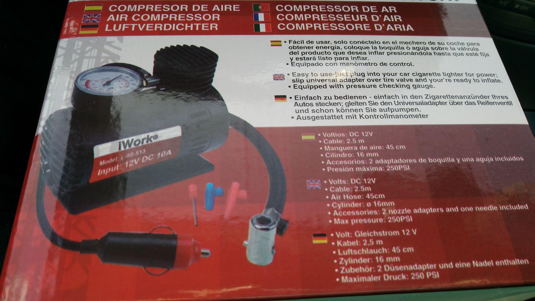 Compresor de regalo por la compra 90 euros en neumáticos