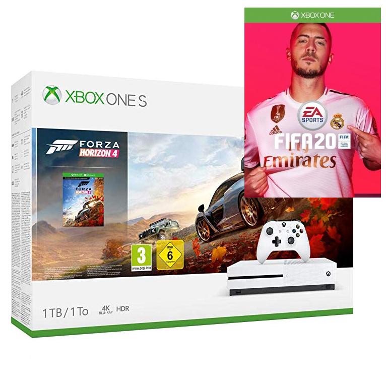 XBox One S 1TB + Fifa 20 + Forza Horizon 4 o Minecraft