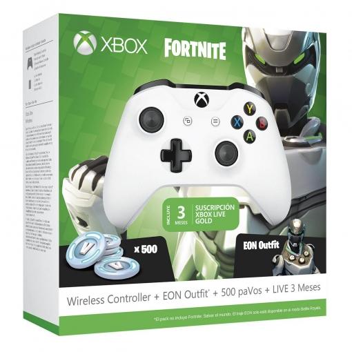 Pack Mando color blanco + EON Outfit + 500 PaVos + Live 3 meses para Xbox One