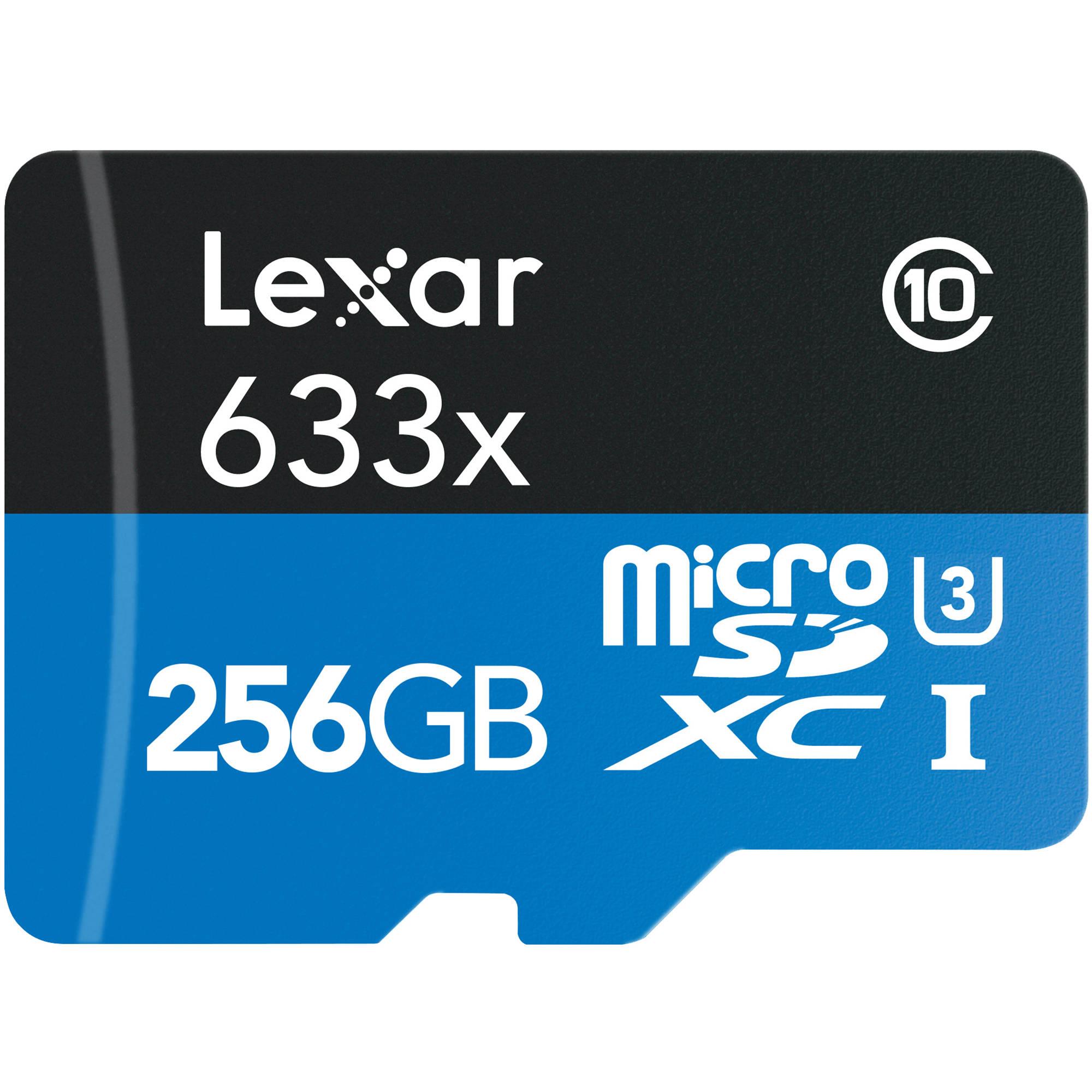 Preciazos Lexar  633x U3 originales de todos los tamaños por tiempo limitado
