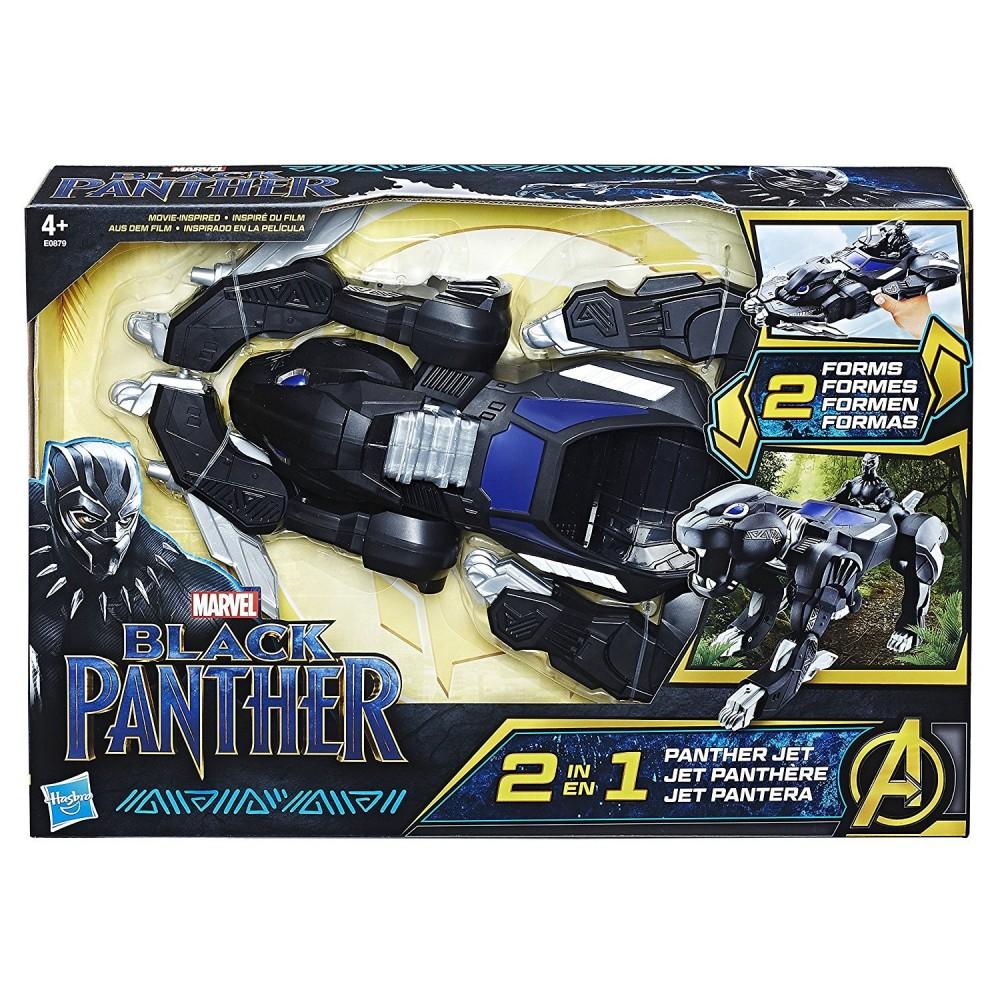 Hasbro Marvel Black Panther Vehículo Pantera 2 En 1