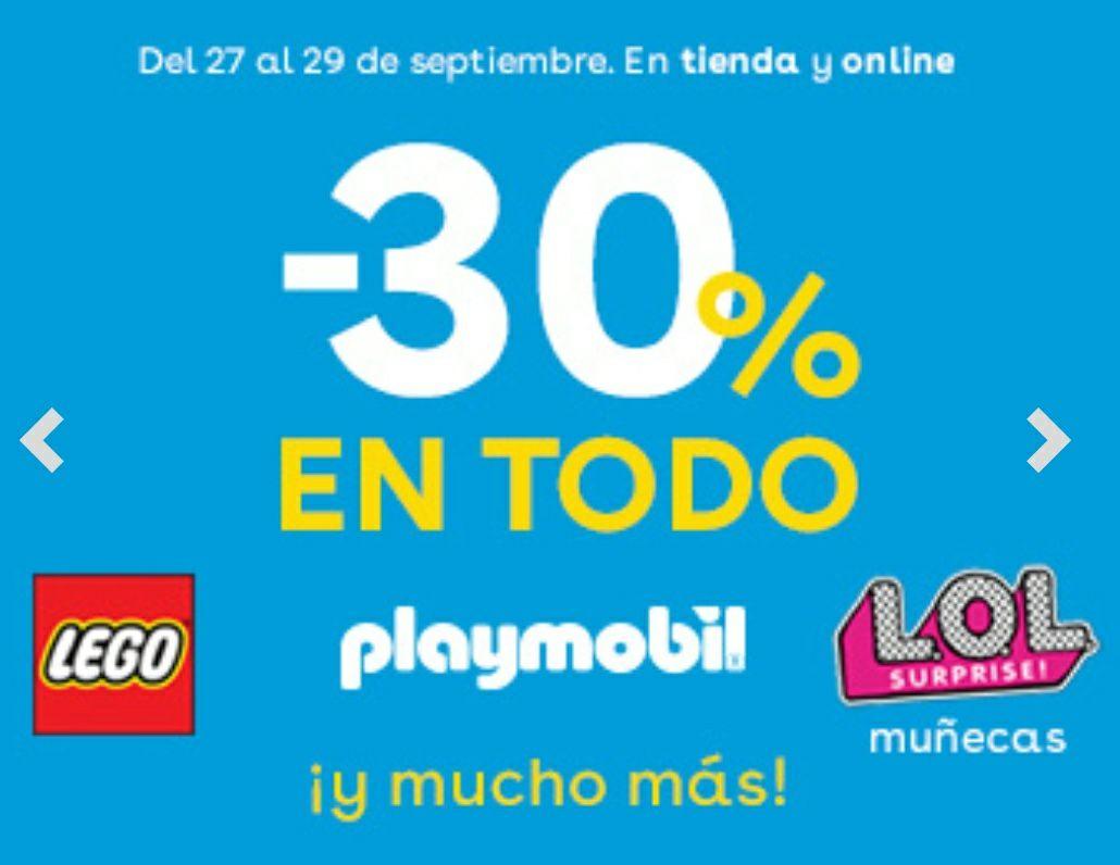 """Toys""""R""""Us: descuento 30% en Lego y Playmobil"""