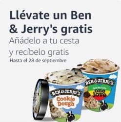 Regalo de helado Ben & Jerry's y lata de San Miguel Magna