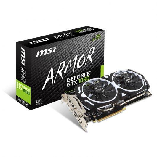 MSI GeForce GTX 1060 Armor V1 3GB GDDR5 (Reaco)