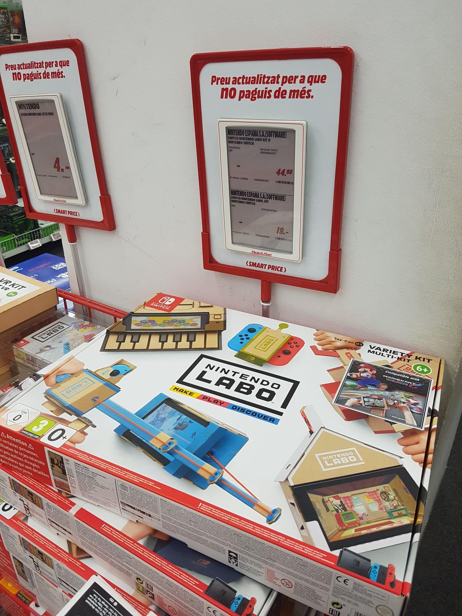 Nintendo Labo Kit variado en MediaMarkt Maquinista