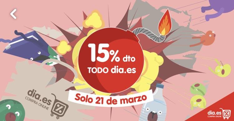 15% de descuento en dia.es