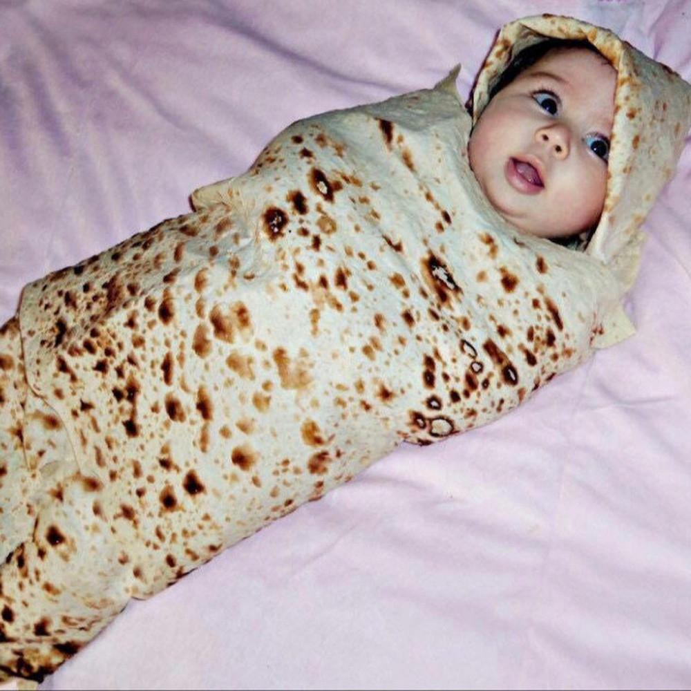 Manta en forma de Burrito de Tortilla de Harina + ENVÍO GRATIS