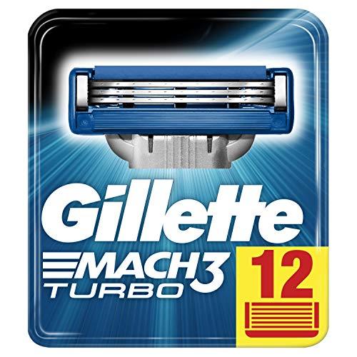 Pack 12 cuchillas de afeitar Gillette Mach3 Turbo