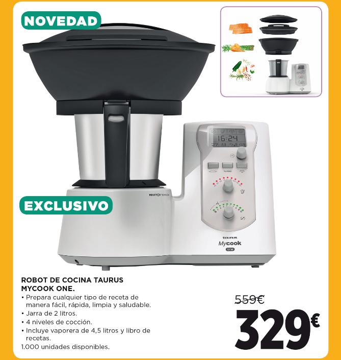 TAURUS Mycook One - Robot de cocina con vaporera