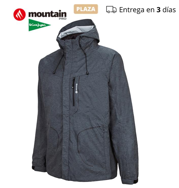 [PLAZA] Talla M - Chaqueta GRIS de montaña profesional desmontable impermeable transpirable - El Corte Inglés
