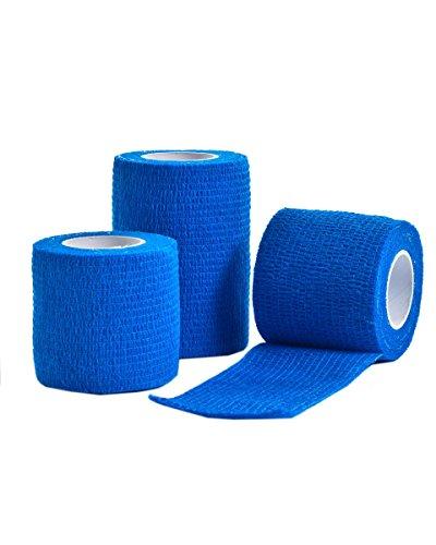 3 unidades de venda medicinal de 5cm x 4,5m azul
