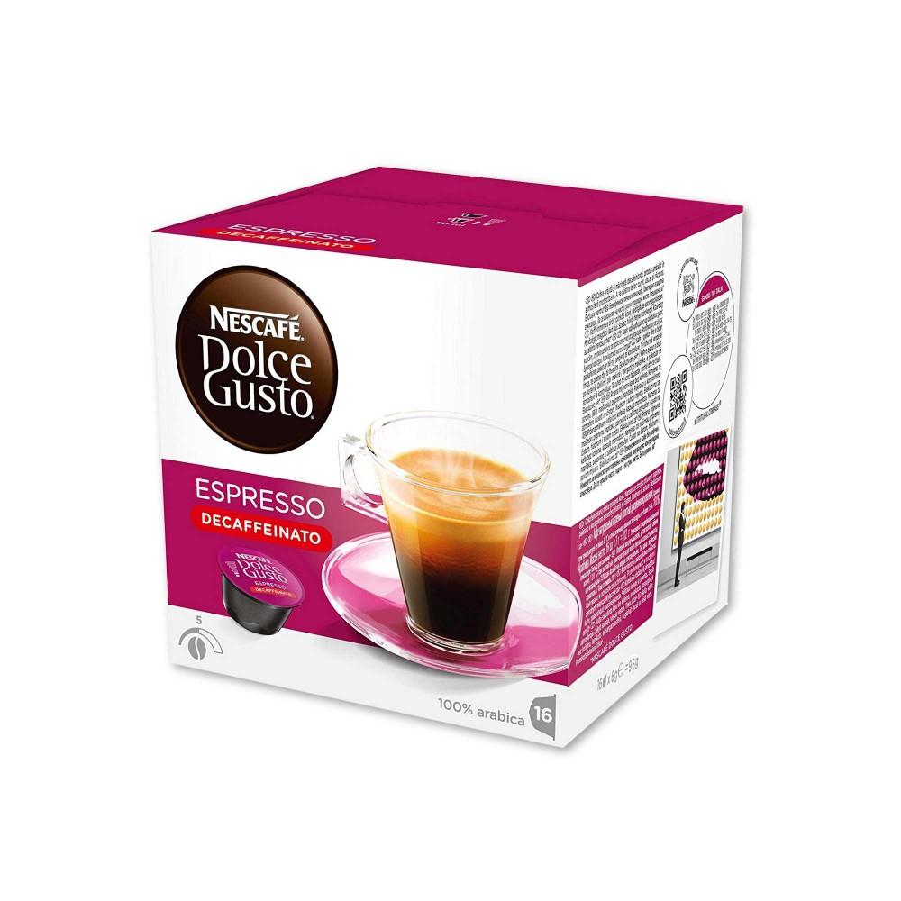 Nescafé Dolce Gusto Espresso Decaffeinato 100% Arábica Intensidad 5 - (16 Cápsulas)