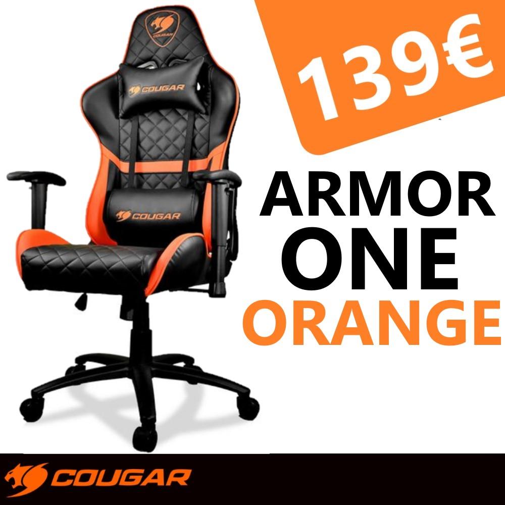 Cougar Armor One Negro/Naranja - Silla Gaming/Office