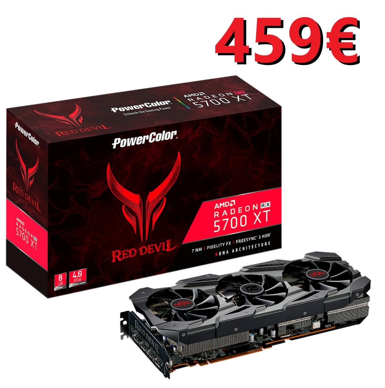PowerColor Radeon RX 5700 XT Red Devil 8GB GDDR6 por 459€