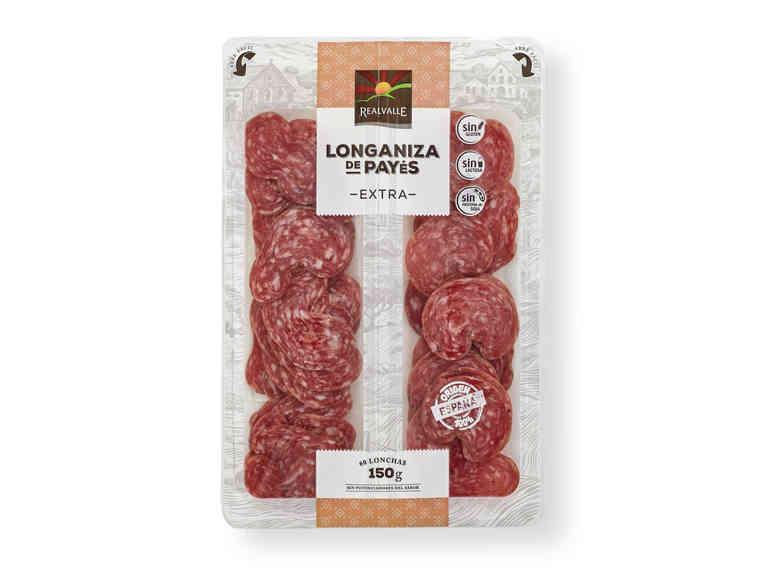'Realvalle®' Longaniza extra Sin gluten / LIDL / 1,29 euro.
