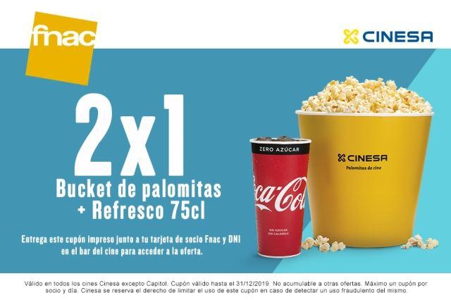 15% en CINESA y 2x1 en MENÚ (Socios FNAC)