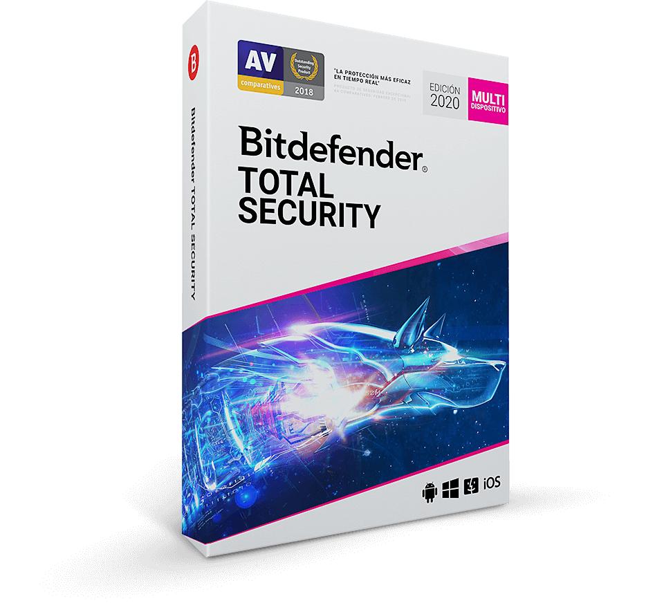 Bitdefender Total security 2020 (1 año, 5 dispositivos)