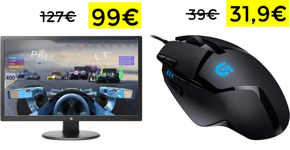 "Monitor Hp 24"" FullHd solo 99€"