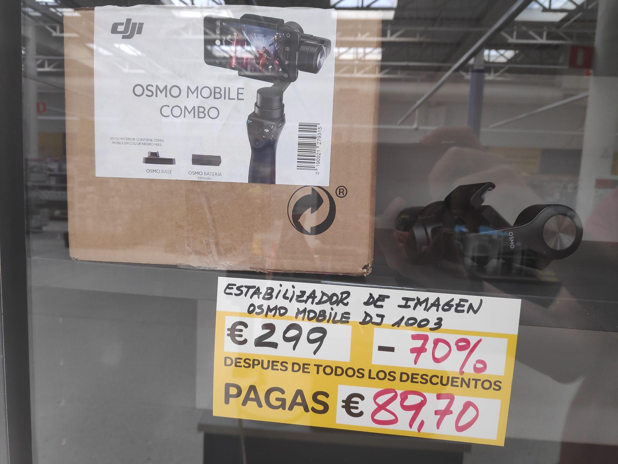 DJI Osmo Mobile - Estabilizador de imagen para Smartphone (Carrefour Outlet Los Rosales)