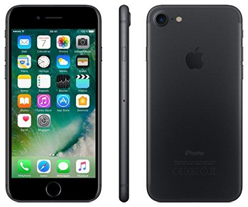 """Apple iPhone 7 con pantalla de 4.7"""" (Wi-Fi, Bluetooth, 32 GB, 4G, cámara de 12 MP, iOS), Negro"""
