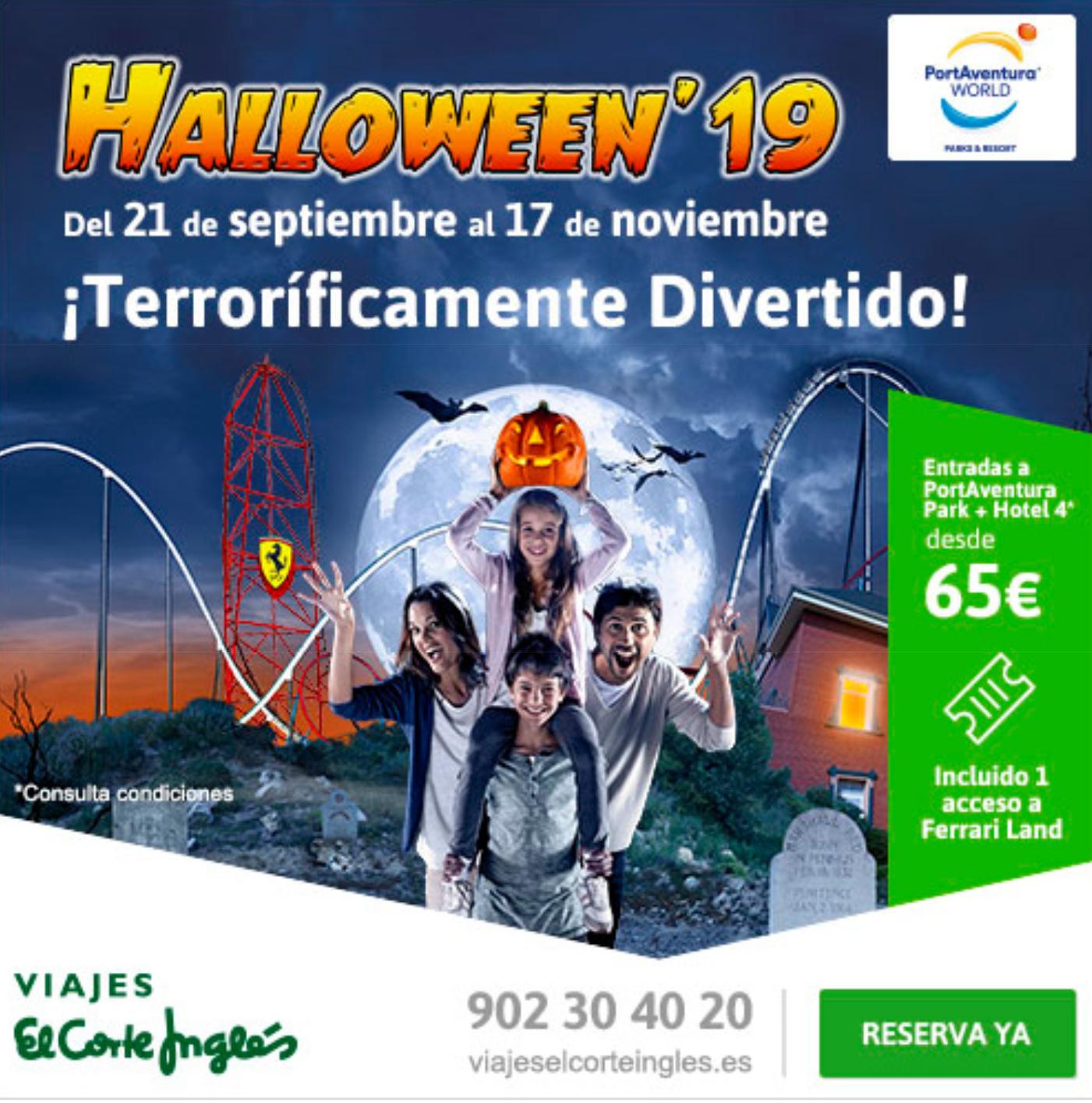 Hotel + Entradas a Portaventura World en Halloween desde 65€