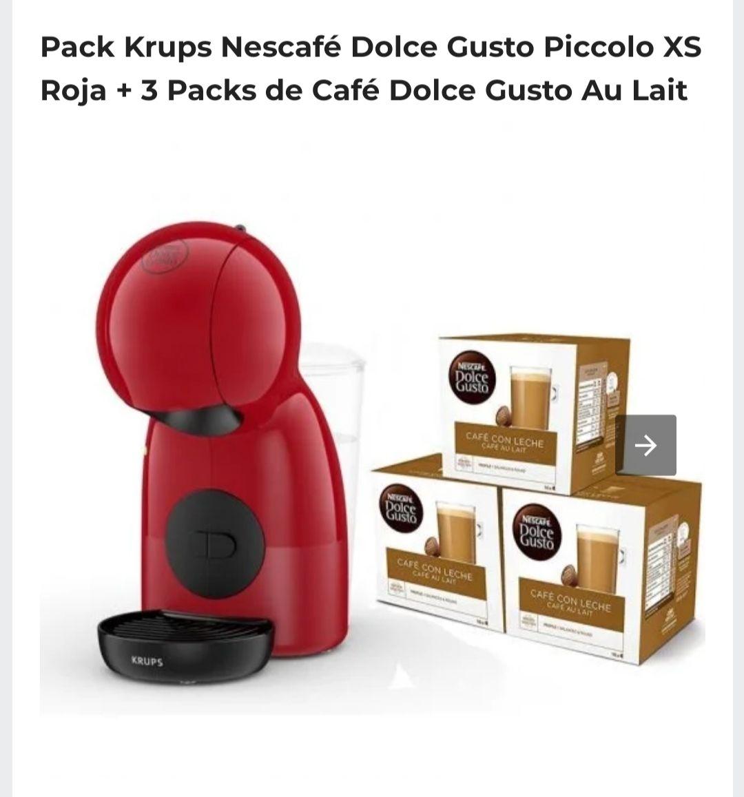 Cafetera+Pack cápsulas Nescafé Dolce Gusto