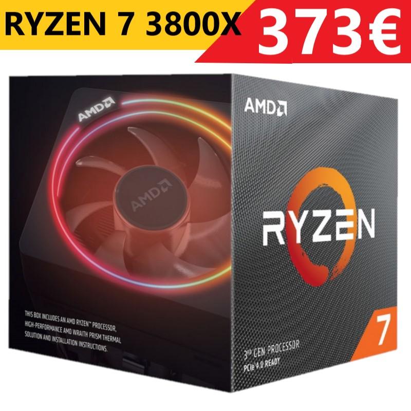 PROCESADOR AMD RYZEN 7 3800X 8X4.5GHZ/36MB BOX y 3700X