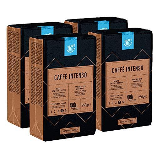 "Marca Amazon - 4x Happy Belly Café molido ""Caffè Intenso"""