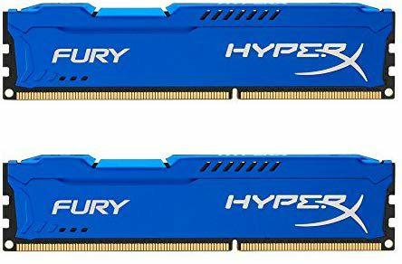 Memoria RAM de 8 GB (1600 MHz DDR3 Non-ECC CL10 DIMM, Kit 2x4 GB), Azul
