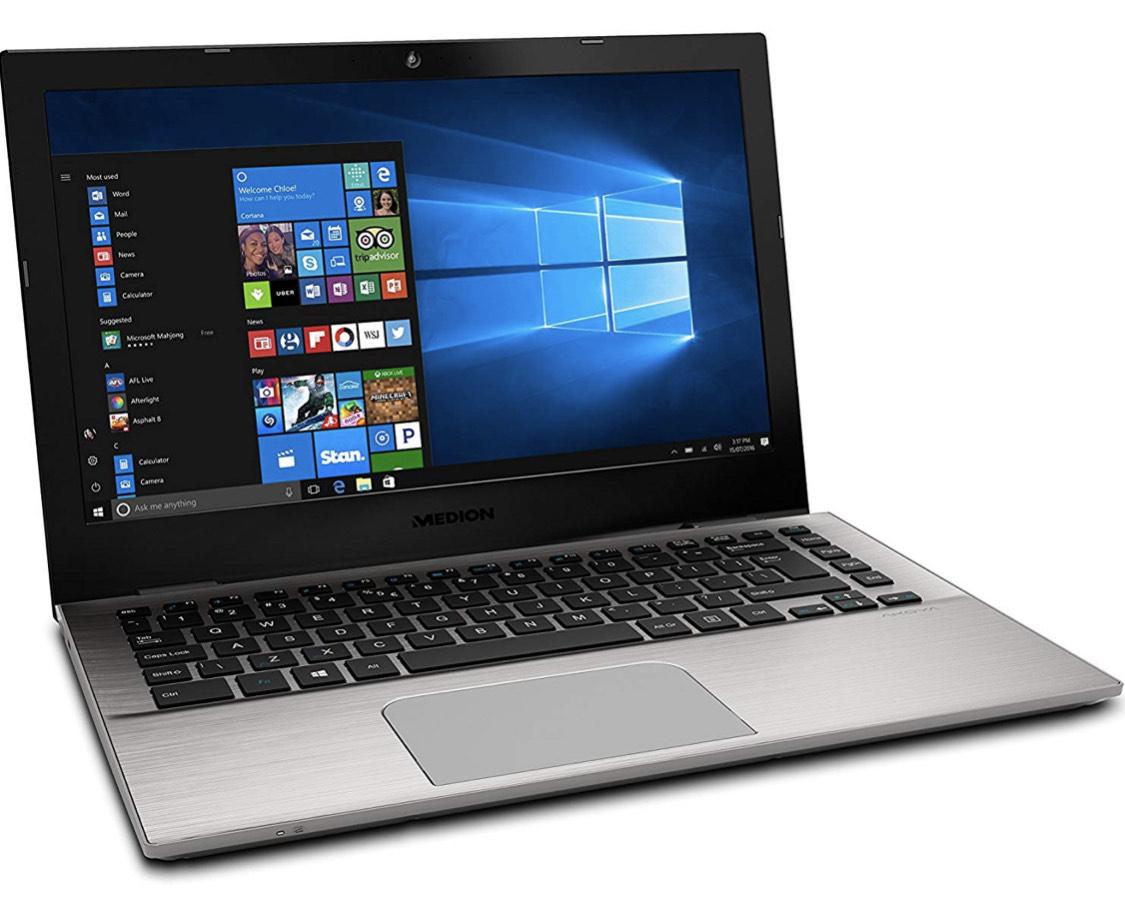 """MEDION S3409 - MD 61004 - Ordenador portátil de 13.3"""" FHD (Intel Core i7-7500U, RAM de 8 GB, SSD de 256 GB, Intel HD Graphics, Windows 10)"""