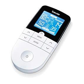 Beurer EM49 - ELECTROESTIMULADOR DIGITAL, para aliviar el dolor muscular y el fortalecimiento muscular, masaje, pantalla LCD