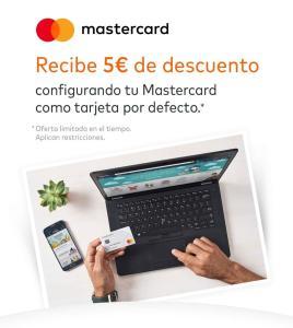 Amazon 5€ por tener mastercard