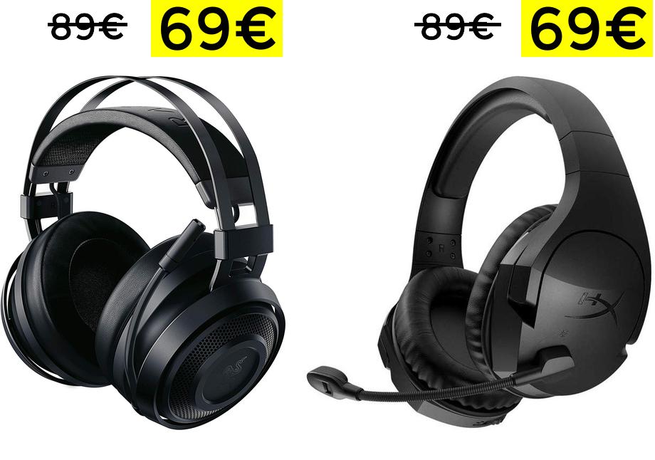 Auriculares inalámbricos Razer e HyperX solo 69.9€