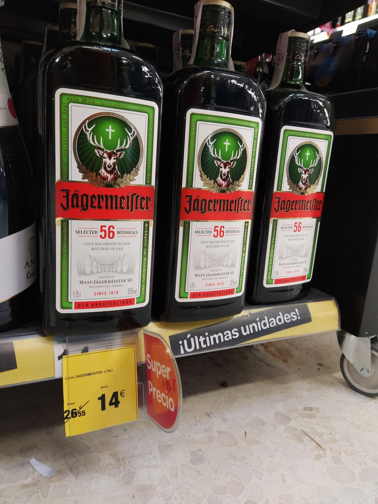 Jagermeister 1.75 litros en Carrefour de Ciudad de la Imagen (Madrid)