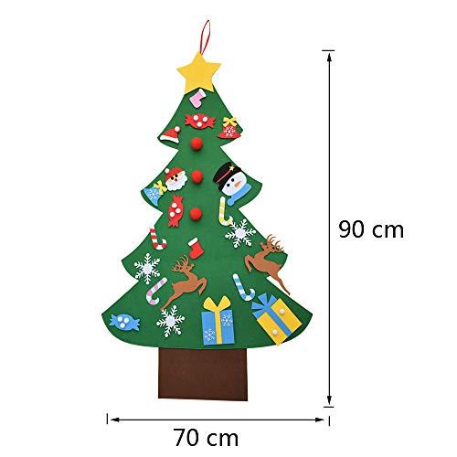 Árbol de Navidad de Fieltro 90x70
