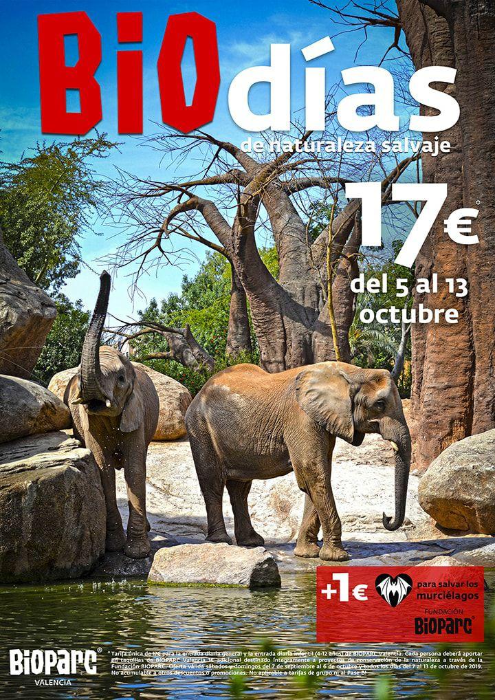 Entrada a Bioparc Valencia a 17+1€