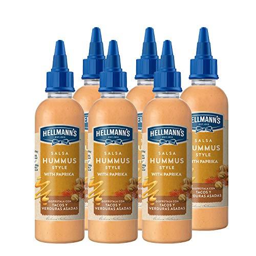 6 botes de hellmann's Salsa hummus de 215ml cada bote