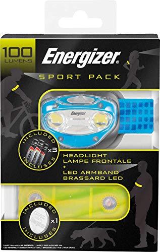 CHOLLITO Energizer! Linterna frontal y brazalete LED sport para ciclismo y running, 25% de descuento!