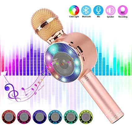 SaponinTree Micrófono Karaoke Bluetooth, 4 en1