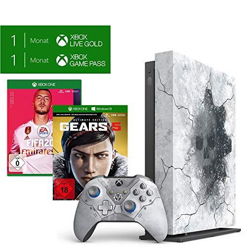 Microsoft Xbox One X 1TB - Gears 5 Limited Edition Bundle + FIFA 20 - Standard Edition